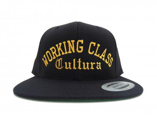 Working Class Cultura ワーキングクラスカルチュラ SNAPBACK スナップバック BLACKxGOLD