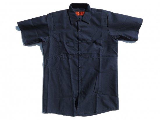 RED KAP SHORT SLEEVE INDUSTRIAL WORK SHIRT レッドキャップ 半袖ワークシャツ SP24 NAVY  ネイビー  +カスタムオプション