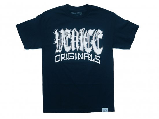 VENICE ORIGINALS  ベニスオリジナル Big Front  S/S T-SHIRT  NAVY