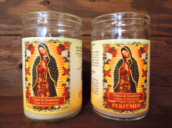 Virgin of Guadalupe  Short Candle キャンドル