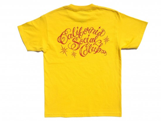 California Social Club  SHOP VAN  S/S  Tシャツ Yellow x Red