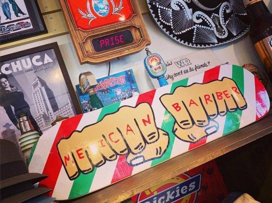 TIP TOP BARBERSHOP チップトップバーバーショップ   MEXICAN BARBER SKATE DECK  スケードデッキ