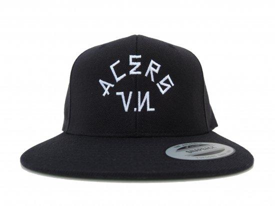 ACERS INC. エーサーズ  V.N SNAPBACK CAP BLACK ブラック