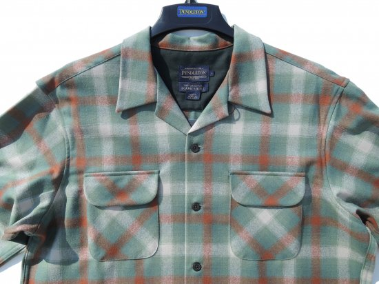 <img class='new_mark_img1' src='https://img.shop-pro.jp/img/new/icons15.gif' style='border:none;display:inline;margin:0px;padding:0px;width:auto;' />PENDLETON ペンドルトン Board Shirts  BROWN GREEN OMBRE
