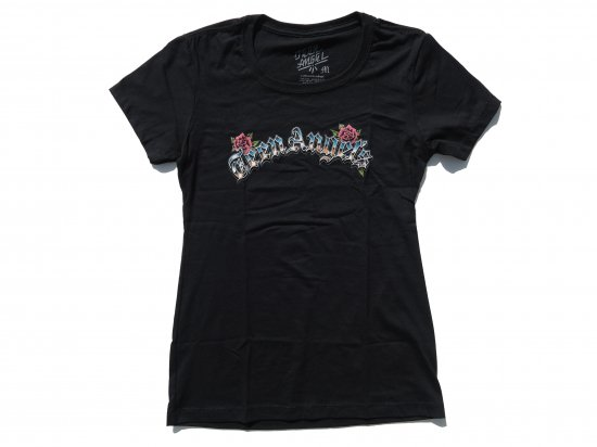 TEEN ANGELS ティーンエンジェル ARC LOGO  LADIES T-shirt  BLACK