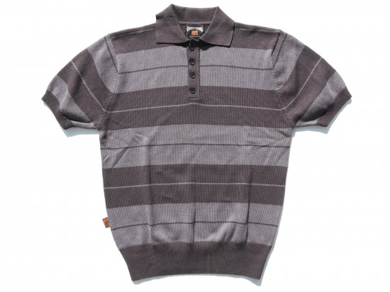 FB COUNTY  Classic Charlie Brown Shirt ニットポロシャツ Charcoal x Grey