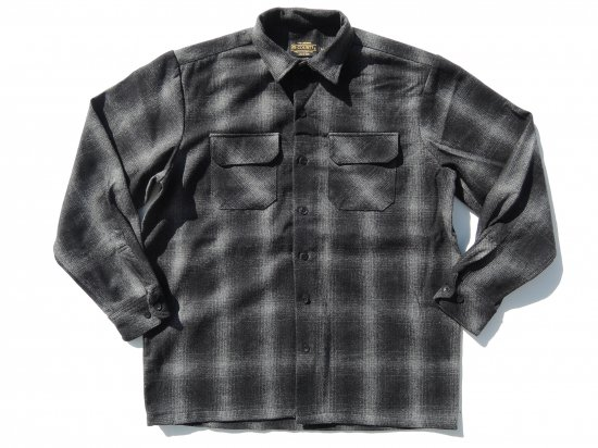 FB COUNTY Wool Blend Long Sleeve Shirt ウールブレンドシャツ BLACK