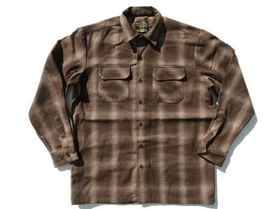 FB COUNTY Wool Blend Long Sleeve Shirt ウールブレンドシャツ BROWN