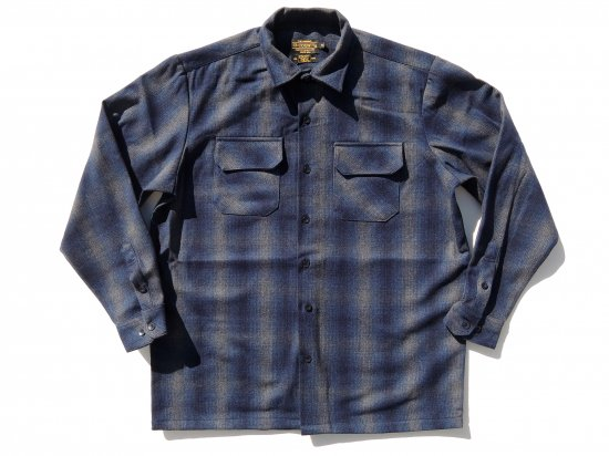 FB COUNTY Wool Blend Long Sleeve Shirt ウールブレンドシャツ NAVY