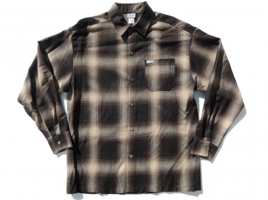CalTop キャルトップ Long Sleeve Flannel Shirt フランネルシャツ BROWN&KHAKI