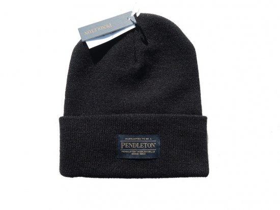<img class='new_mark_img1' src='https://img.shop-pro.jp/img/new/icons15.gif' style='border:none;display:inline;margin:0px;padding:0px;width:auto;' />PENDLETON ペンドルトン BEANIE  BLACK