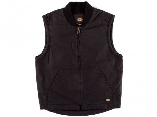 Dickies ディッキーズ USA  #TE240 Sanded Duck Insulated Vest ダックベスト RINSED BLACK