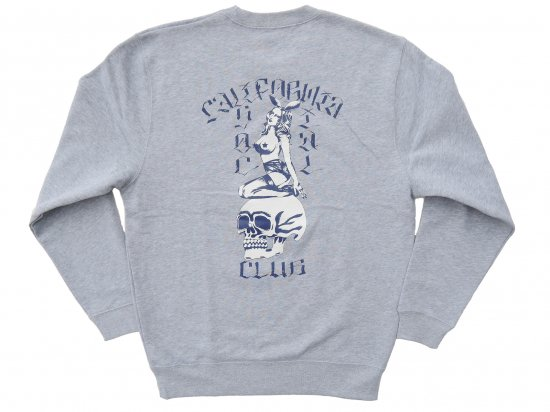 "C.S.C x JASON MCAFEE コラボ  ""Players Club"" SWEATSHIRT スウェット  GRAY"