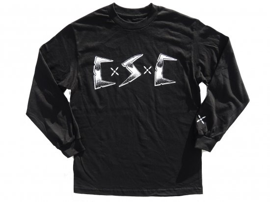 "C.S.C x JASON BROWN コラ ""Cycos Social Club"" L/S T-SHIRT BLACK"