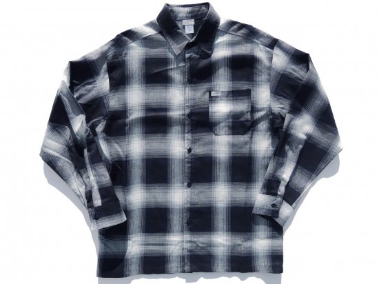 CalTop キャルトップ Long Sleeve Flannel Shirt フランネルシャツ NAVY & IVORY