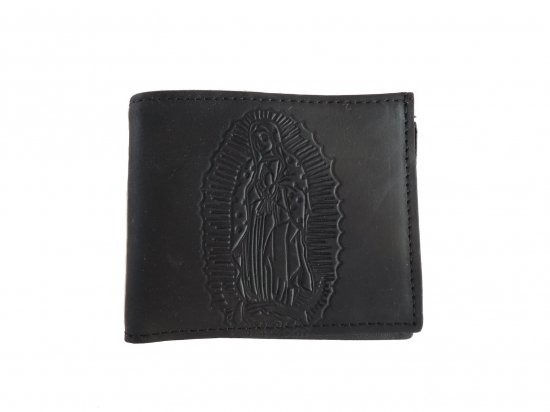 <img class='new_mark_img1' src='https://img.shop-pro.jp/img/new/icons53.gif' style='border:none;display:inline;margin:0px;padding:0px;width:auto;' />LEATHER  WALLET GUADALUPE BILLFOLD  レザー グアダルーペ お札入れ Black