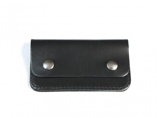 LEATHER  SMALL WALLET  カードケース・名刺いれ BLACK   USA製