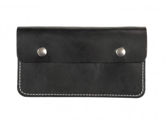 LEATHER  7INCH CHAIN  WALLET  チェーンつき 7インチ ロングウォレット BLACK  USA製