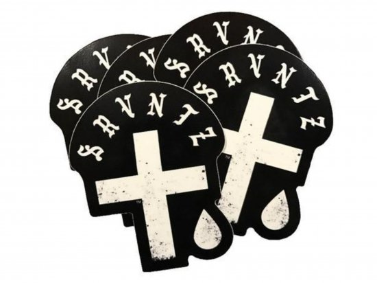 SRVNTZ サーヴァンツ  Cross&Teardrop  Sticker