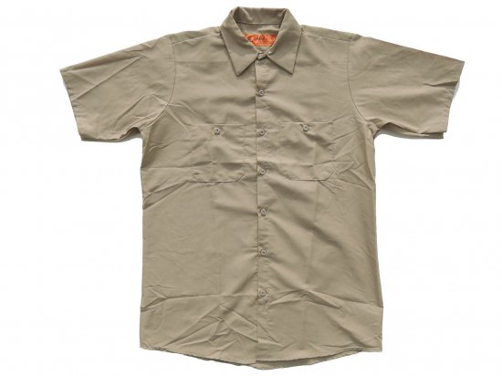 RED KAP SHORT SLEEVE INDUSTRIAL WORK SHIRT レッドキャップ 半袖ワークシャツ SP24  KHAKI  カーキ
