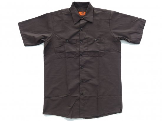 <img class='new_mark_img1' src='https://img.shop-pro.jp/img/new/icons15.gif' style='border:none;display:inline;margin:0px;padding:0px;width:auto;' />RED KAP SHORT SLEEVE INDUSTRIAL WORK SHIRT レッドキャップ 半袖ワークシャツ SP24  CHOCOLATE