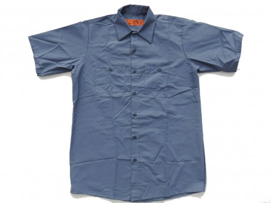 RED KAP SHORT SLEEVE INDUSTRIAL WORK SHIRT レッドキャップ 半袖ワークシャツ SP24  POSTMAN BLUE