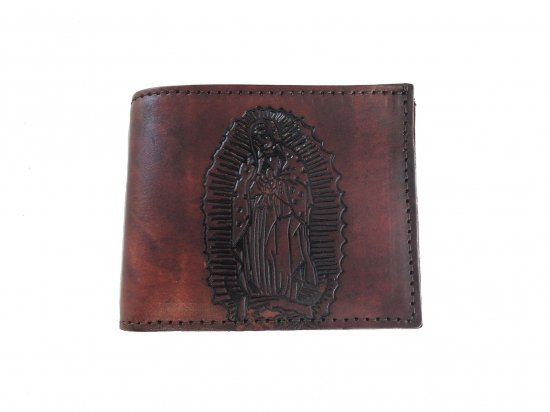 <img class='new_mark_img1' src='https://img.shop-pro.jp/img/new/icons15.gif' style='border:none;display:inline;margin:0px;padding:0px;width:auto;' />LEATHER  WALLET GUADALUPE BILLFOLD  レザー グアダルーペ お札入れ  Brown