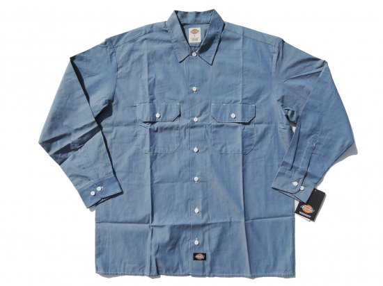 <img class='new_mark_img1' src='https://img.shop-pro.jp/img/new/icons53.gif' style='border:none;display:inline;margin:0px;padding:0px;width:auto;' />DICKIES WL509 CHAMBRAY L/S SHIRT シャンブレーシャツ 長袖シャツ