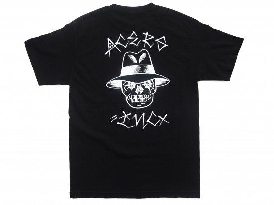 ACERS INC. エーサーズ VATO SKULL  S/S Tシャツ BLACK