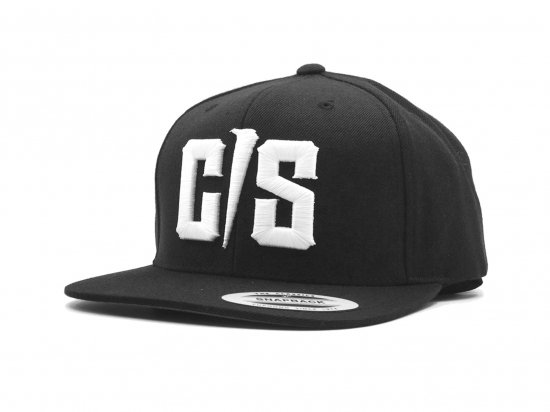 THE C/S Project White CS SOLID LOGO Snapback Cap