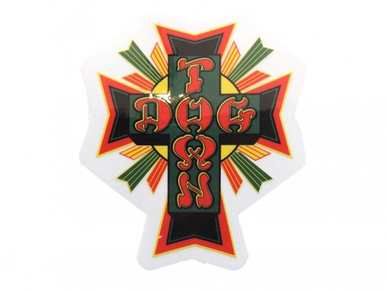 DOGTOWN  ドッグタウン Sticker Cross Logo Rasta