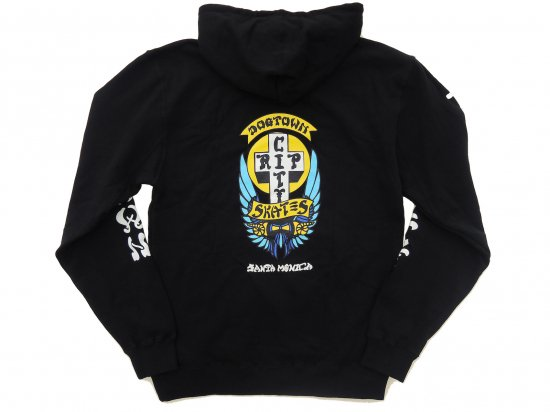 DOGTOWN  x RIP CITY コラボ Zip Hooded Sweatshirt ジップアップフーディ BLACK