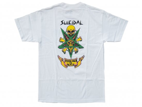 <img class='new_mark_img1' src='https://img.shop-pro.jp/img/new/icons15.gif' style='border:none;display:inline;margin:0px;padding:0px;width:auto;' />Suicidal Skates T-Shirt Possessed To Skate  WHITE