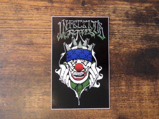 INFECTIOUS GROOVES   IG CLOWN STICKER ステッカー