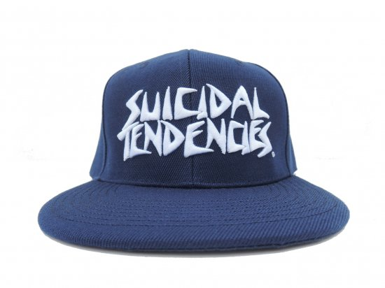 SUICIDAL TENDENCIES スイサイダルテンデンシーズ ST Full Embroidered Custom Baseball Snapback Hats NAVY