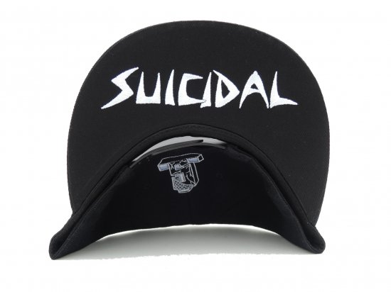 SUICIDAL TENDENCIES スイサイダルテンデンシーズ ST Full Embroidered Custom Baseball Snapback Hats BLACK