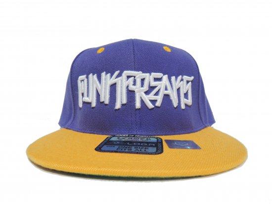 FUNK FREAKS ファンクフリークス  PLACASSO Snapback スナップバック CAP PURPLE x YELLOW