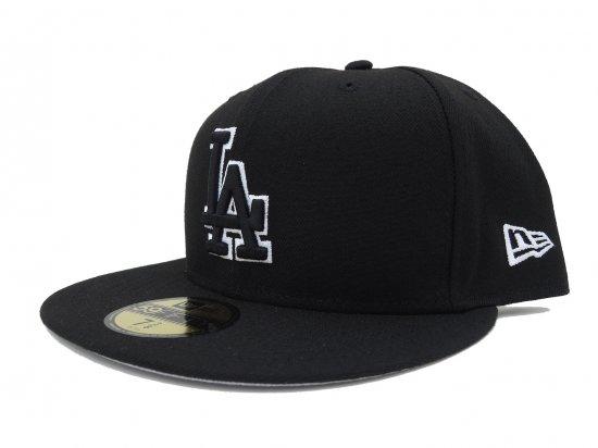 NEW ERA ニューエラ 59FIFTY Los Angeles Dodgers ロサンゼルス ドジャース BK x BK xホワイトライン