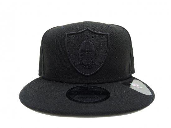 NEW ERA ニューエラ 9FIFTY  Oakland  Raiders  Snapback Cap BK x BK