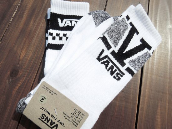 VANS ヴァンズ  CREW SOCKS  2 DESIGN PACK WHxBK