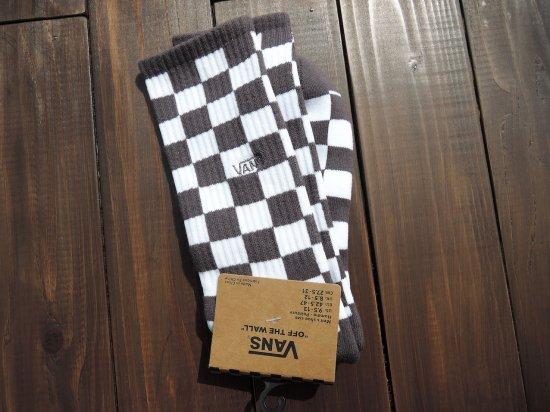VANS ヴァンズ  Checkerboard Crew Socks  Charcoal x White