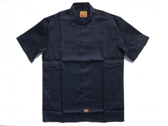 FB COUNTY Short  Sleeve Work Shirt ワークシャツ Kackie NAVY ネイビー