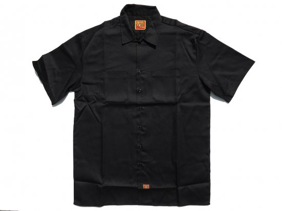 FB COUNTY Short  Sleeve Work Shirt ワークシャツ Kackie BLACK ブラック
