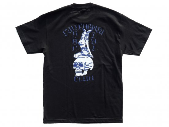 "California Social Club x JASON MCAFEE コラボレーション  ""Players Club"" S/S  Tシャツ  BLACK"
