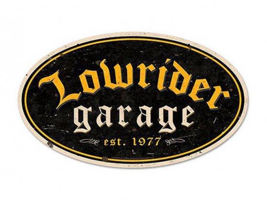 Lowrider Garage Steel Sign ローライダー ガレージサイン USスチール製