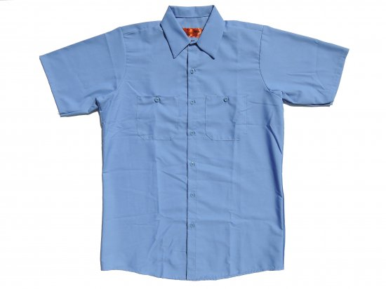 <img class='new_mark_img1' src='https://img.shop-pro.jp/img/new/icons15.gif' style='border:none;display:inline;margin:0px;padding:0px;width:auto;' />RED KAP SHORT SLEEVE INDUSTRIAL WORK SHIRT レッドキャップ 半袖ワークシャツ SP24 Petrol Blue