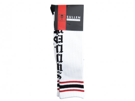 <img class='new_mark_img1' src='https://img.shop-pro.jp/img/new/icons15.gif' style='border:none;display:inline;margin:0px;padding:0px;width:auto;' />SULLEN CLOTHING LIVE FAST SOCKS WHT/BLK/RED