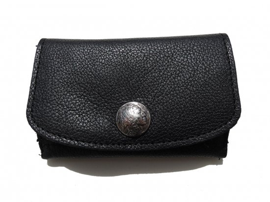 LEATHER  MINI CLUTCH WALLET INDIAN  レザー ミニクラッチ財布 Black