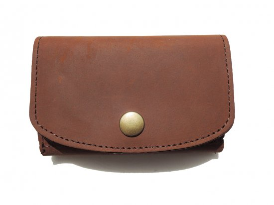 LEATHER  MINI CLUTCH WALLET レザー ミニクラッチ財布 Brown