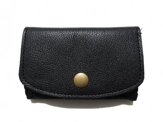 LEATHER  MINI CLUTCH WALLET レザー ミニクラッチ財布 Black